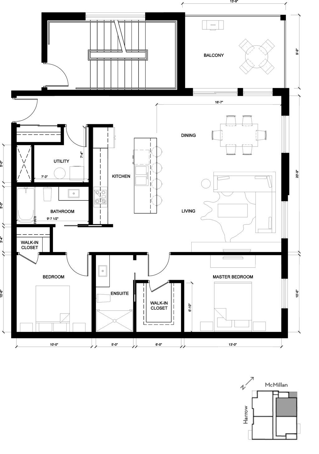 The Yale suite - 2d floorplan