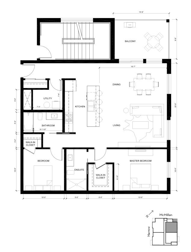 Suite C Yale 2D Floorplan