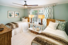 Room with twin beds.