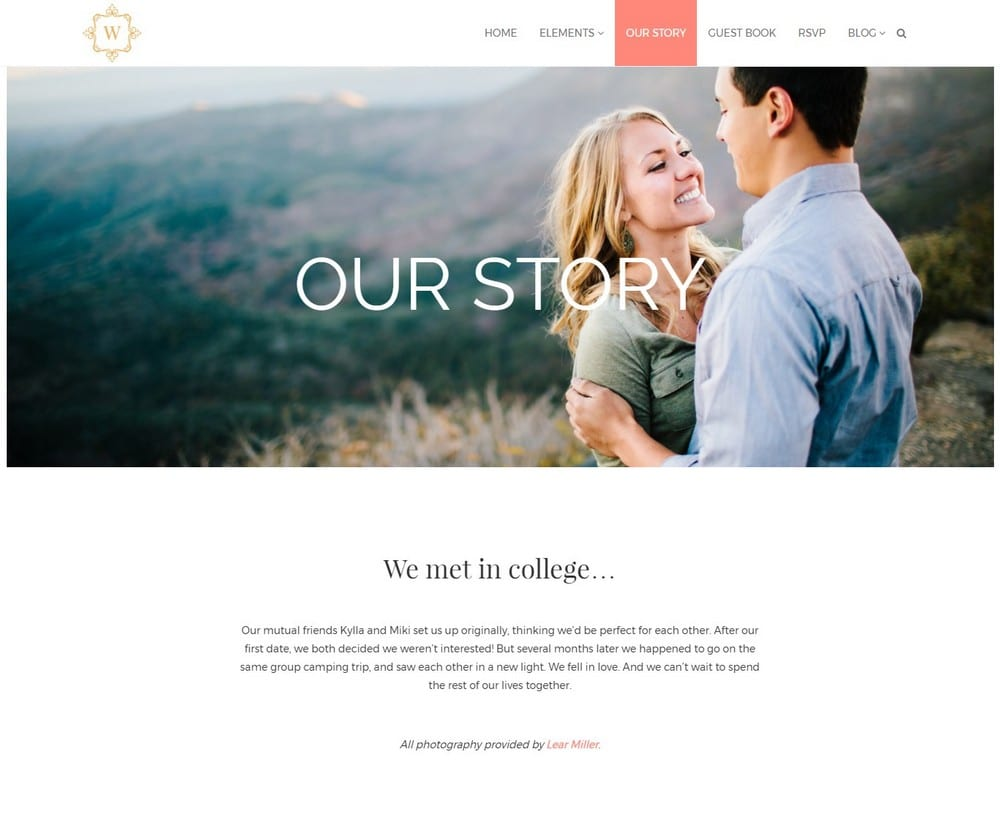 How To Build a Wedding Website with WordPress   Theme Junkie You probably won t get a chance to explain to each and everyone the story  of how you met your bride or groom during the wedding day