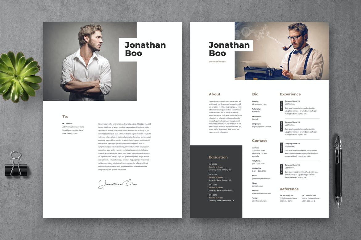 Many use microsoft word to get the job done, but if you don't have it (or can't afford it because. 30 Best Photoshop Resume Templates Psd With Modern Designs Theme Junkie