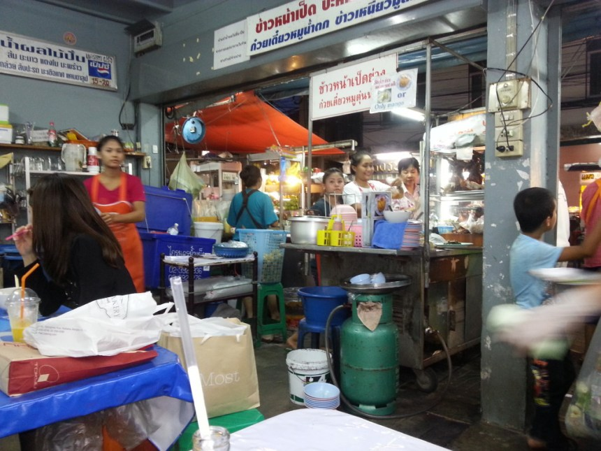 Inside view of one of the main seating areas looking onto Soi 38.