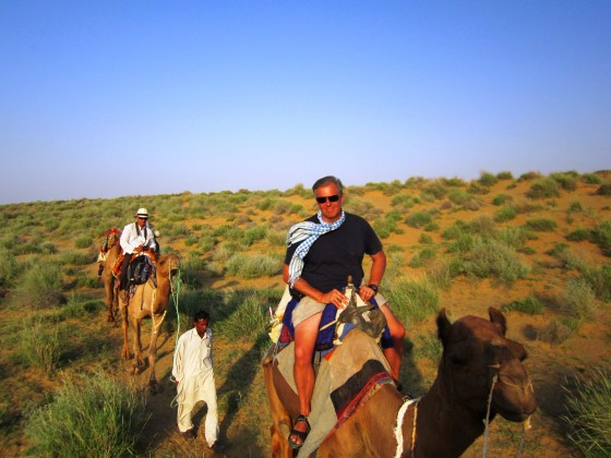 Me and my trusty camel. Saddled it myself, which was a challenge in its own right