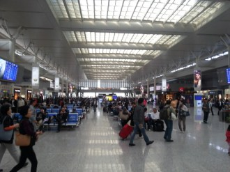 Shanghai's Honqiao station, which is more like O'Hare than South Station.