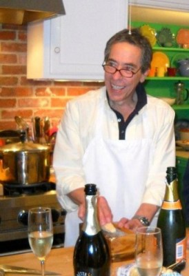 Bob Wallack at home in his kitchen.