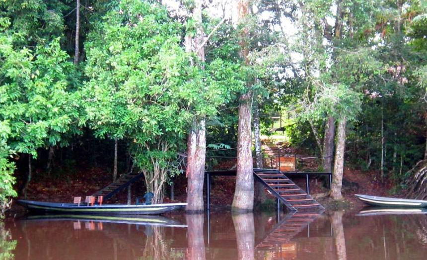 The watery entrance to Cuyabeno Lodge, our home for four days and three nights of fun, excitement and education about the Ecuadorian Amazon.