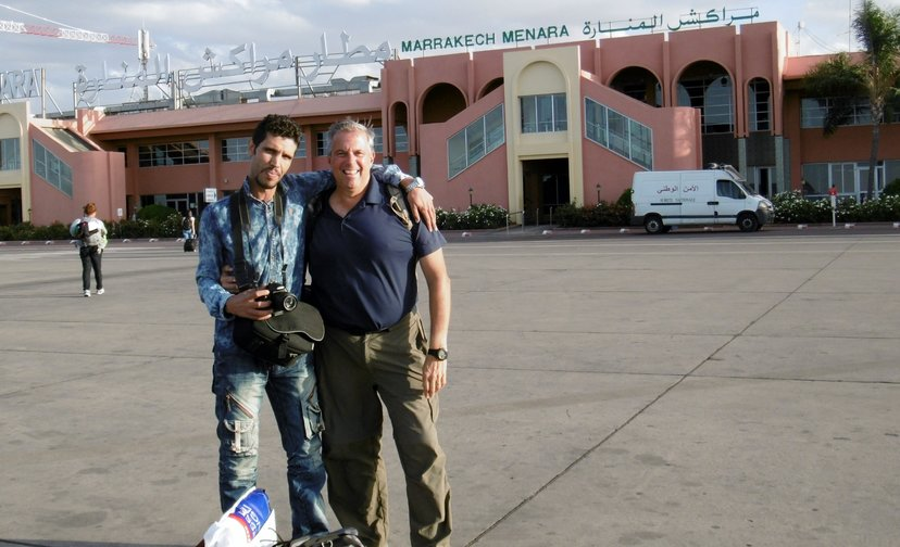 """Skip and """"Jameel"""" at the Marrakech airport"""