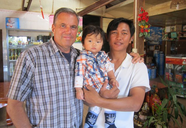 My friend Sarath, with his son Sethakar in Mondulkiri, Cambodia