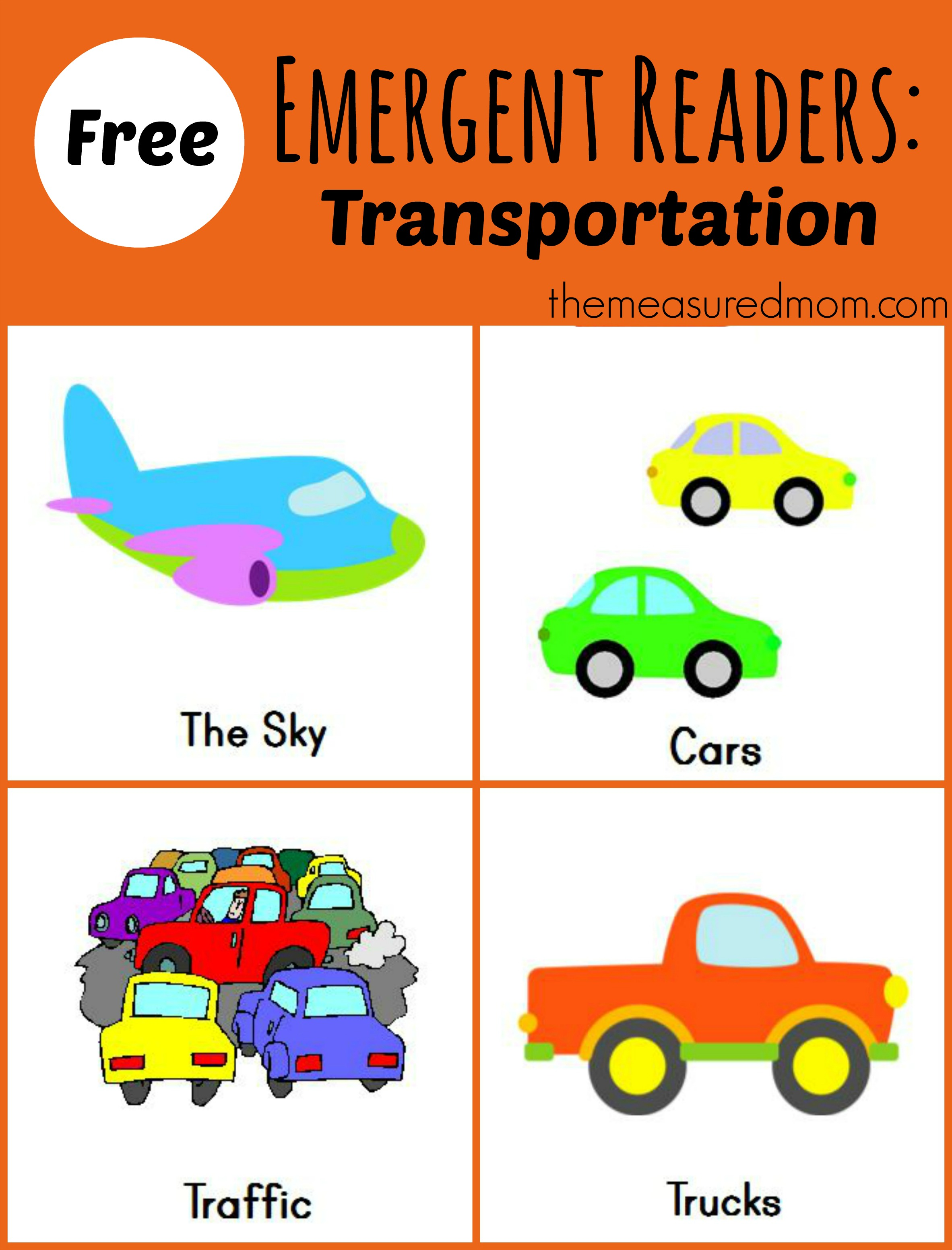 Free Printable Emergent Readers Transportation Sight Word See