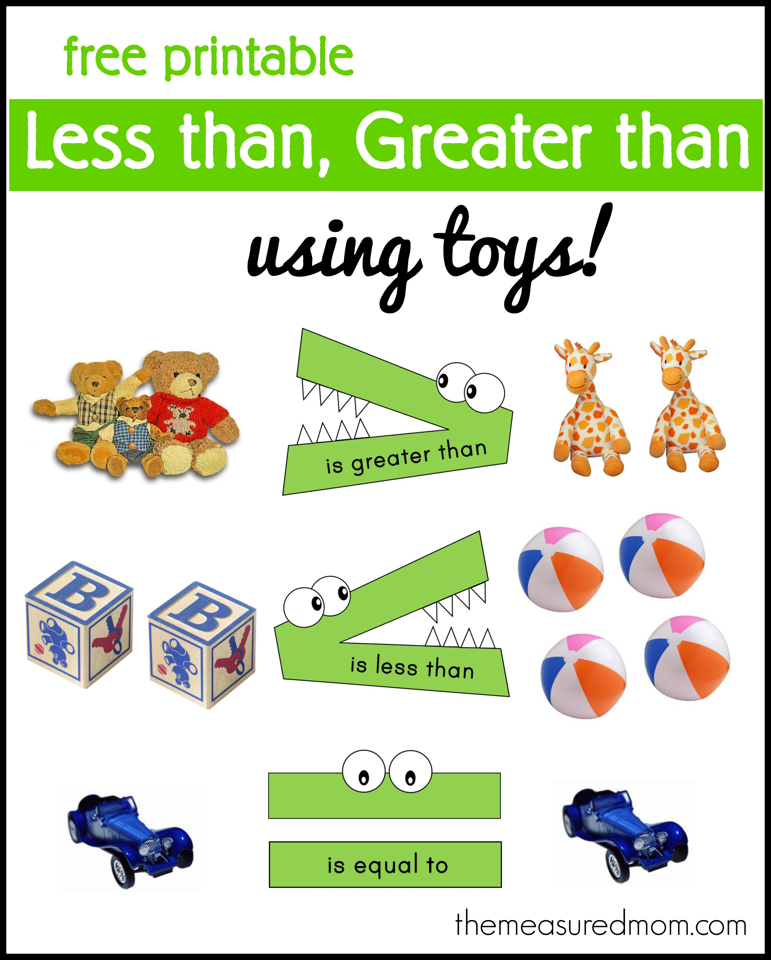 More Or Less Preschool Worksheet