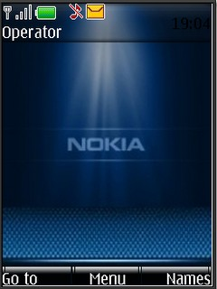 Nokia blue S40v3 theme