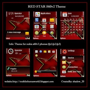 Redstar by shadow_20-s60v2 theme