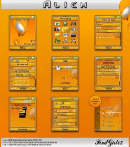 alien sony ericsson theme