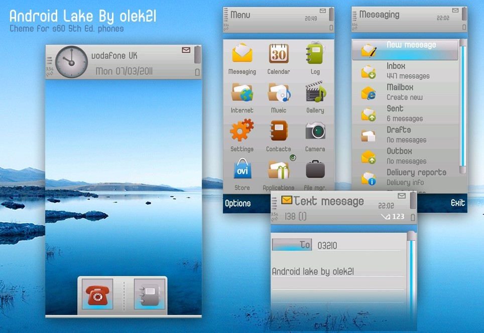android themes lake by olek