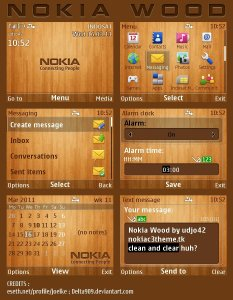 s40v6 nokiac3theme nokia wood