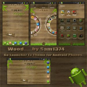 woodem android mobile phone theme by sam