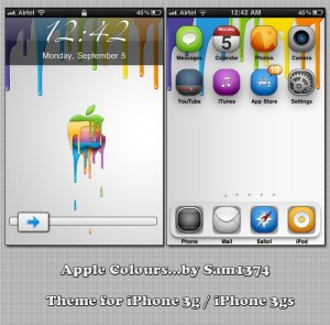 free iphone theme Apple colors by sam1374