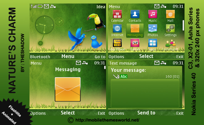 Nature'S Charm Nokia c3 Theme by TheShadow