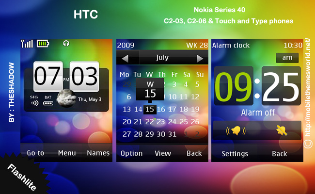 nokia c2-03 theme htc by theshadow
