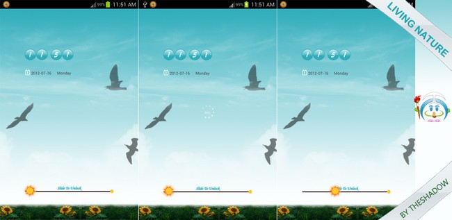 theshadow themes Living Nature Theme Go Locker for Android phones