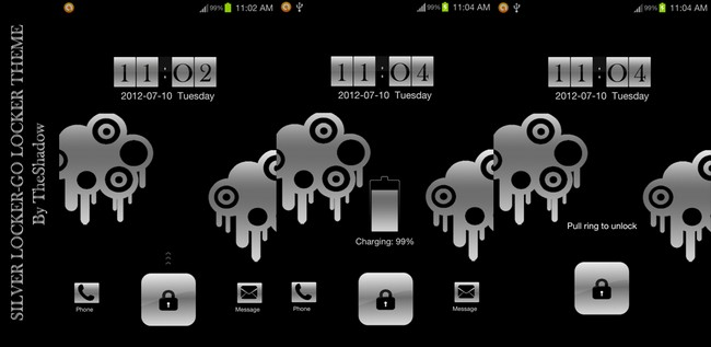 Silver Lock Theme Go Locker for Android phones by theshadow