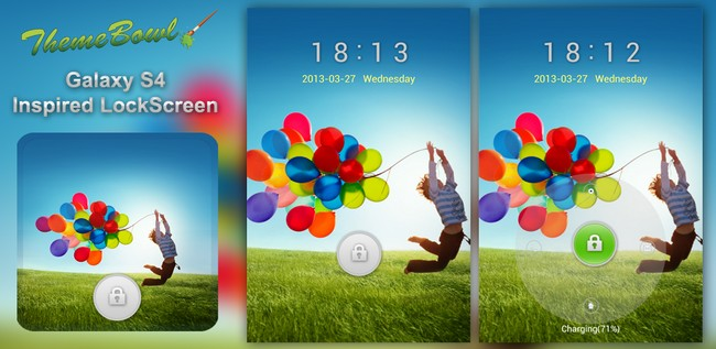 samsung galaxy s4 lockscreen theme golocker android