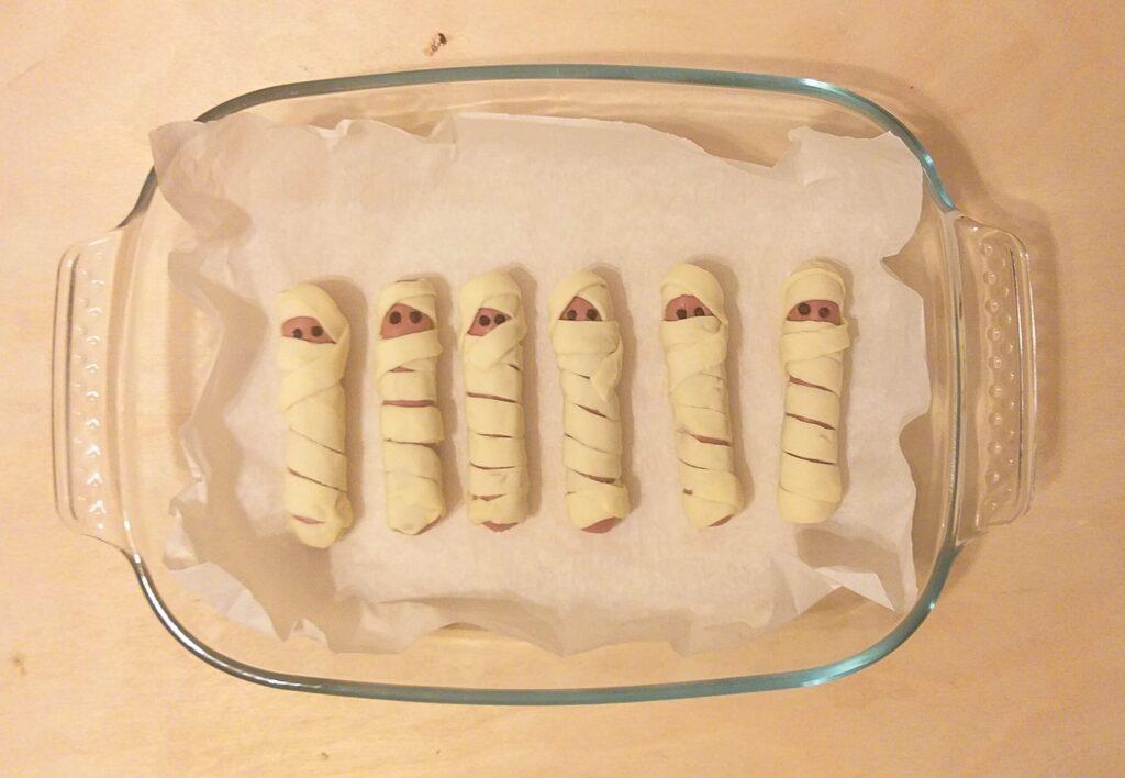 Zucca e mummie piatti forti della cena di Halloween
