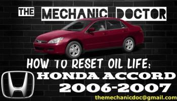 How To Reset Oil Life Honda Accord 2008 2009 2010 2011 2012