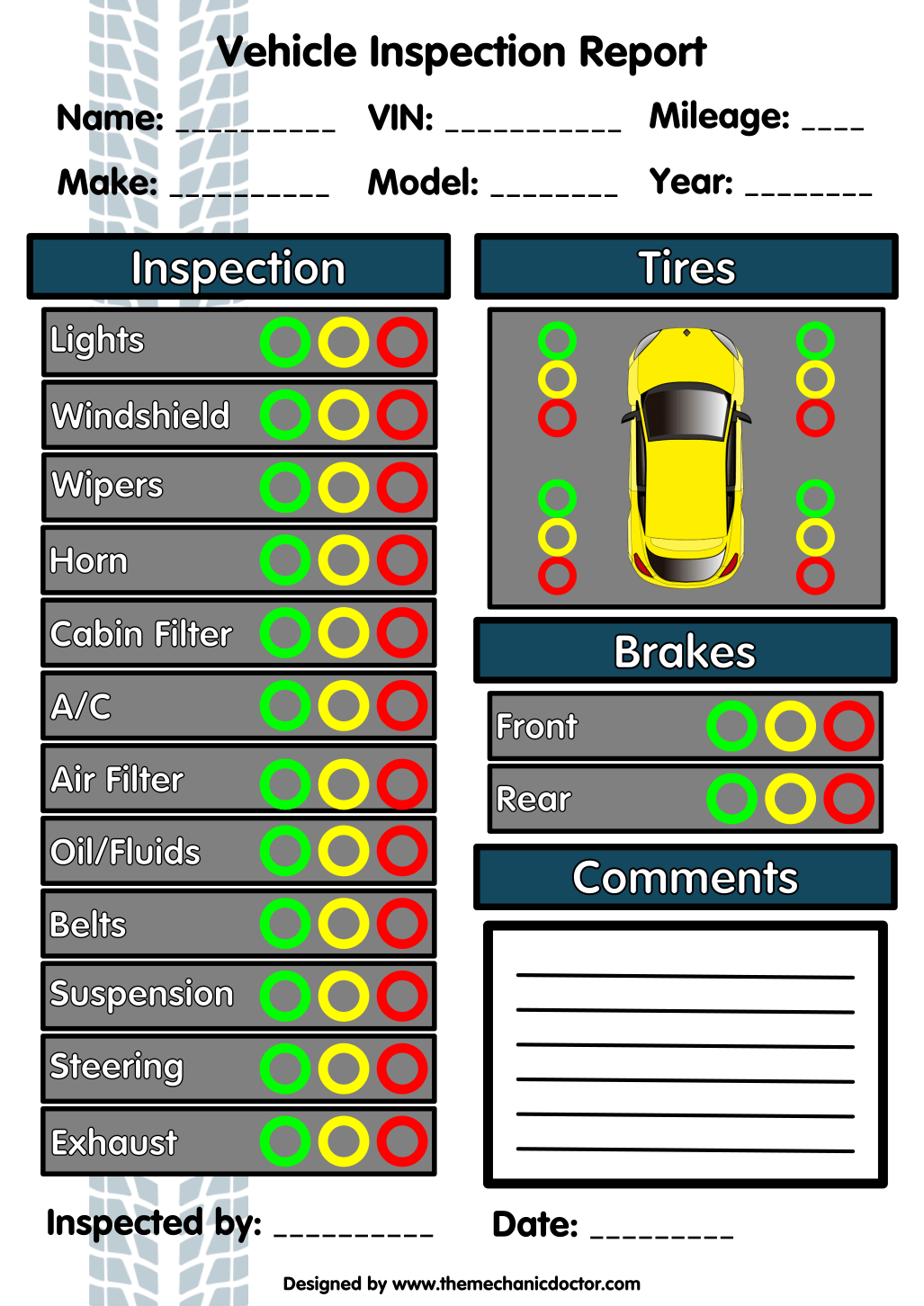 6 Free Vehicle Inspection Forms