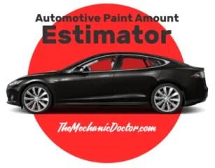 Automotive Paint Amount Estimator Title
