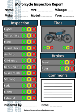 Motorcycle Quick Inspection Form