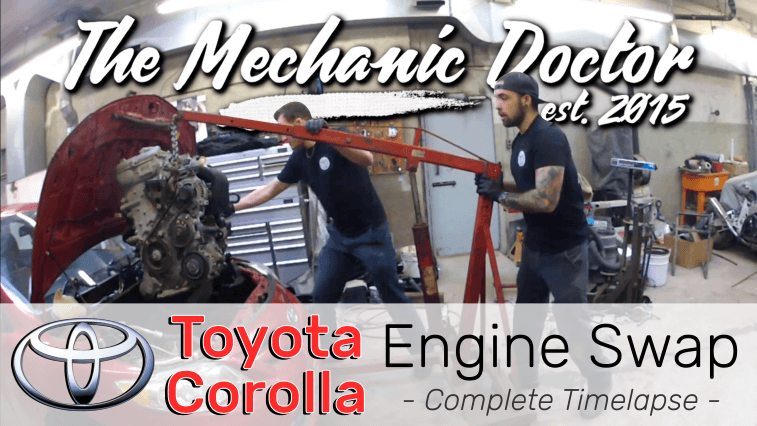 A Day in the Life of an Auto Mechanic   Toyota Corolla Engine Swap