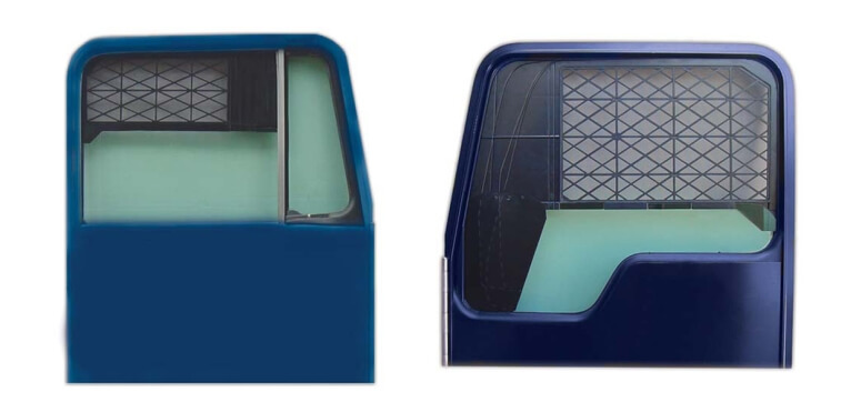 Semi-truck window screen