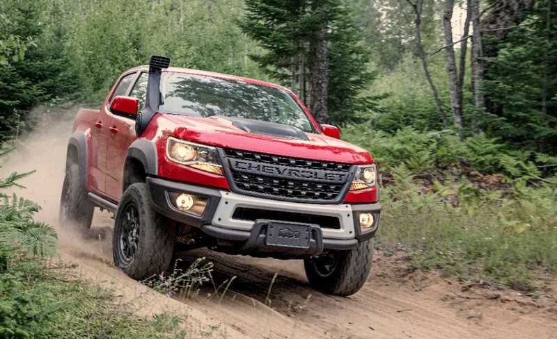 Red Chevrolet Colorado Bison