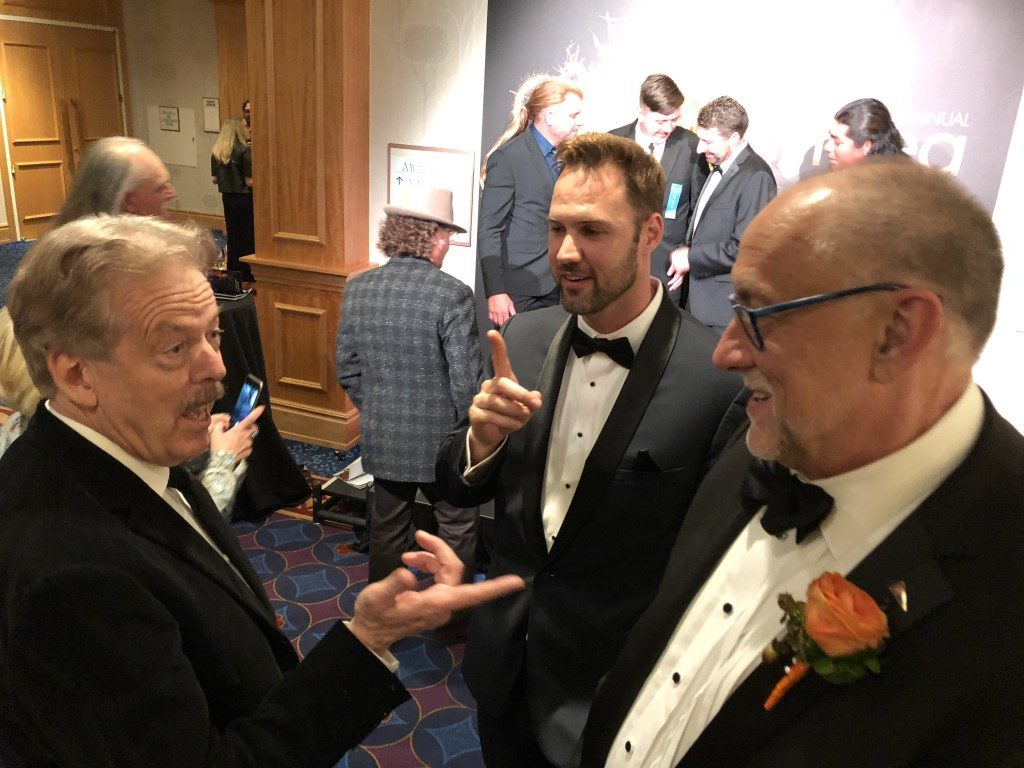 Tony Baxter, Mike Mulligan, Phil Hettema, TEA, Themed Entertainment Association Thea Awards after party