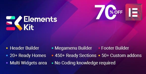 ElementsKit v1.0.6 - The Ultimate Addons for Elementor Page Builder