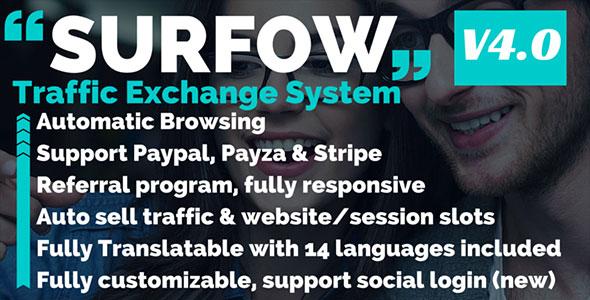 Surfow V4.0.1 - Traffic Exchange System V4.0