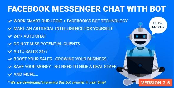 Facebook Messenger Chat with Bot v2.8