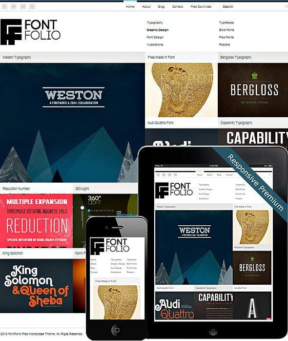 FontFolio Theme | wordpress free