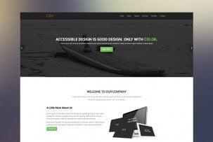 Color HTML5 OnePage Bootstrap Template