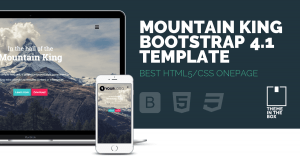 Mountain King Bootstrap 4 Template