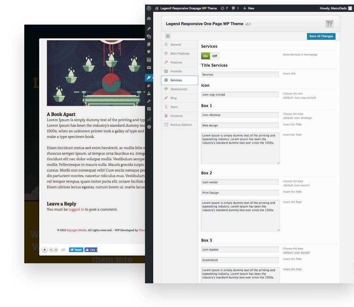 Legend: WordPress Theme - ThemeintheBox.com