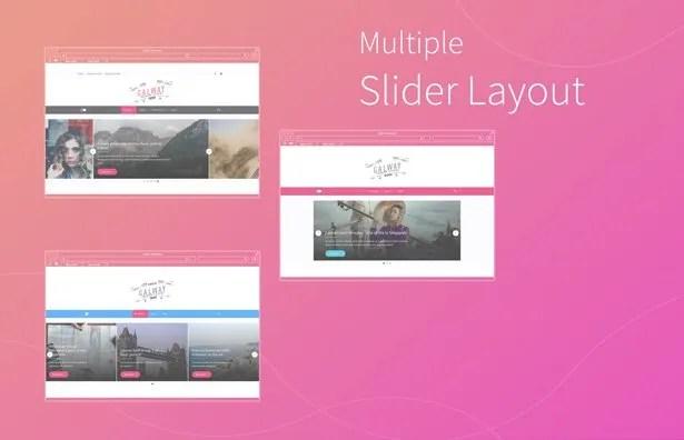 Multiple Slider layout