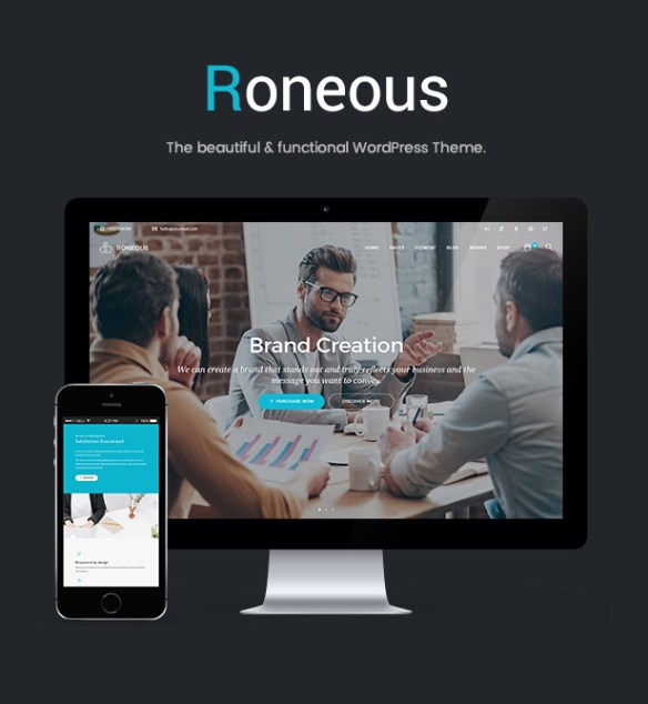 Roneous Creative Multi-Purpose WordPress Theme