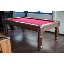Majestic Pool Table In Dark Walnut And Red Cloth