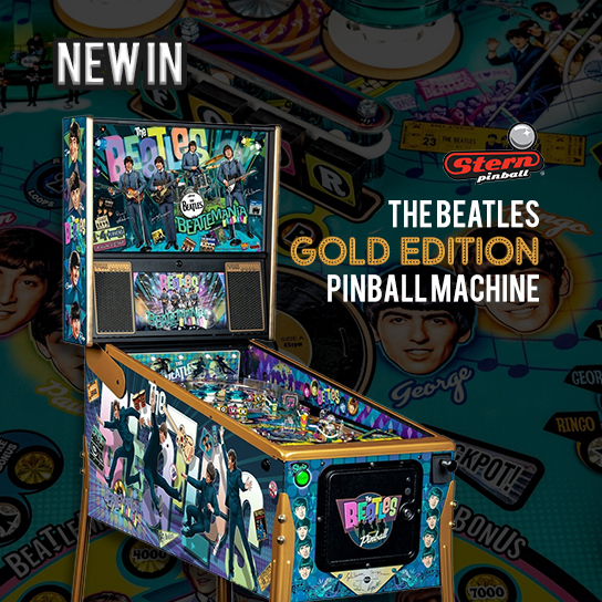 Beatles Gold Edition Pinball in SingaporeMachine