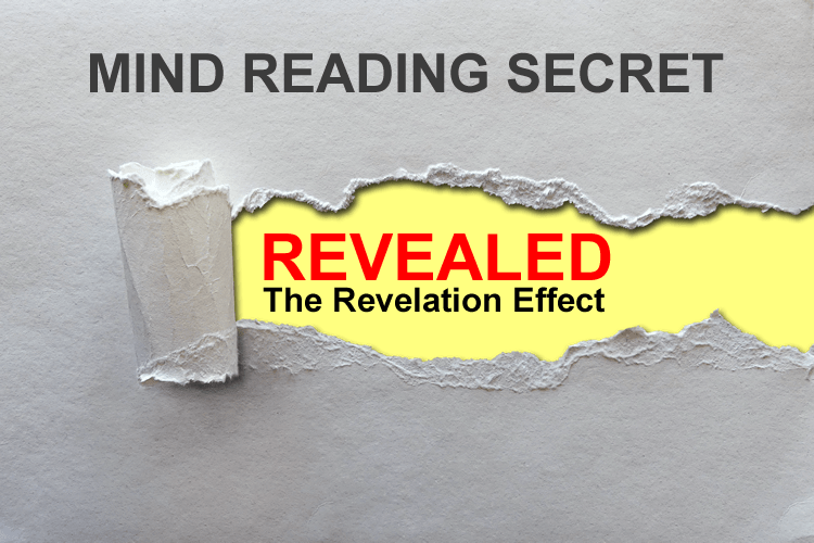 The Revelation Effect - Mind reading secret revealed