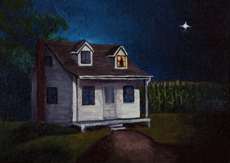 """The Sound of Moonlight"" A short story by Rick McQuiston with illustration by Tim Bougger. Read online at Theme of Absence . com."