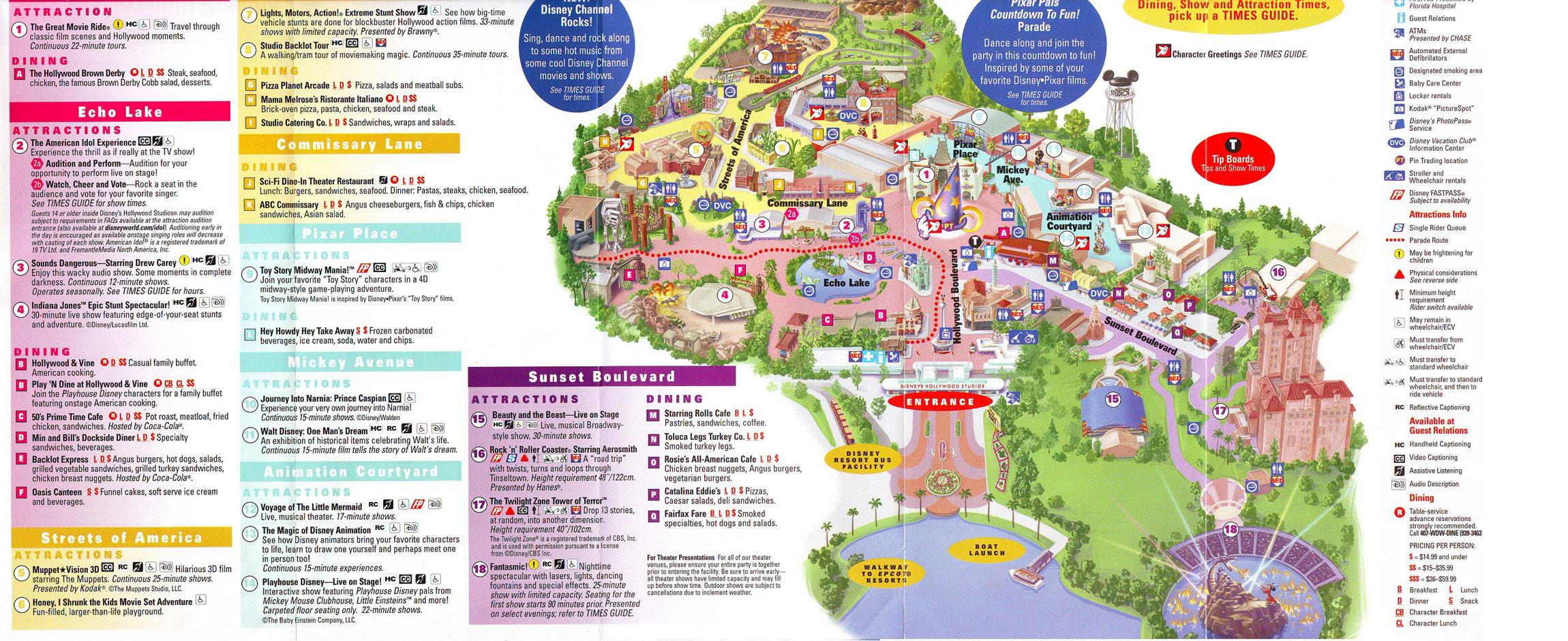 Theme Park Brochures Disney S Hollywood Studios