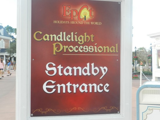 Christmas at Epcot 2013: Candlelight Processional